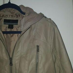 Bernardo Jackets & Blazers - Leather jacket with detachable hood