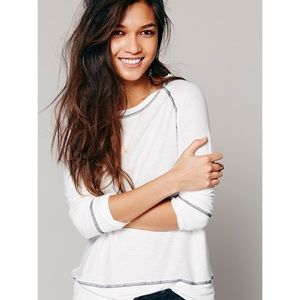 Free People Tops - Free People 3/4 Sleeve Shirt