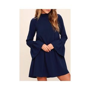 NWT navy mini dress