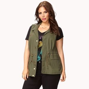 Forever 21 Jackets & Blazers - Forever 21 Studded Star Plus Size Utility Vest