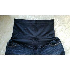 Liz Lange for Target Pants - Maternity Full-Panel Denim Bermuda Shorts