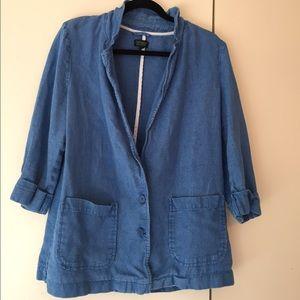 Topshop linen blazer