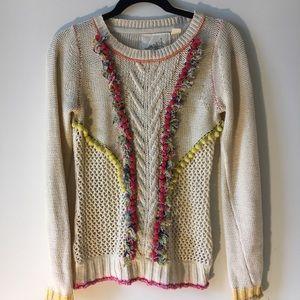 Anthropologie Pom Pom Sweater