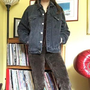 Vintage black denim Jean jacket