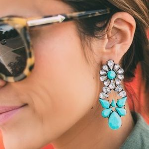 Ily Couture Jewelry - Jen Hot Turquoise Statement Earrings