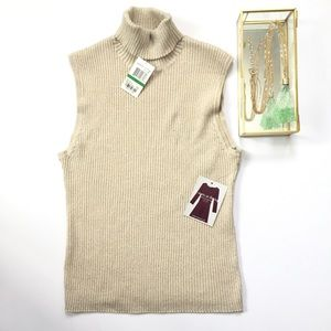 Cable & Gauge Tops - NWT Cable & Gauge sleeveless turtleneck