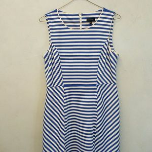 Spense Dresses & Skirts - Spense blue strip dress
