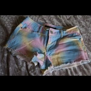 Hot Topic Pants - Hot Topic Tie Dye Shorts