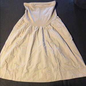 Motherhood Maternity Dresses & Skirts - Motherhood maternity beige skirt size medium