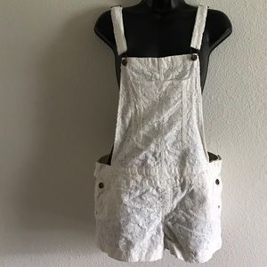 Reign Pants - Indigo Reign White/Ivory Lace Overalls Size 9