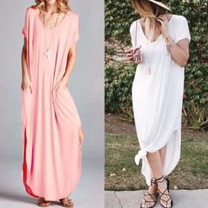 🆕CHARLIZE solid boho dress - BLUSH
