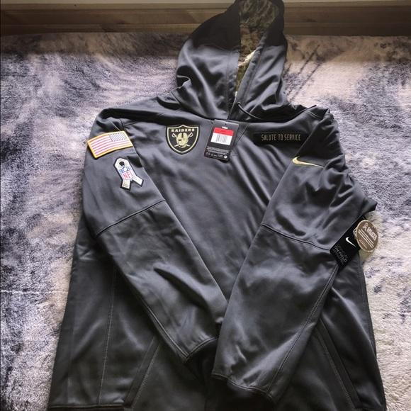 watch e5ad0 69254 Salute To Service Raiders Nike Hoodie NWT