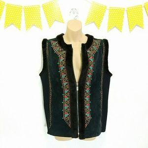 Bob Mackie Jackets & Blazers - Vintage Mixed Media Wearable Art Vest Bob Mackie