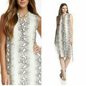 Acrobat Dresses & Skirts - Acrobat White Snake High Low Silk Tunic Dress Sm