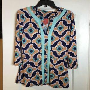 Tracy Negoshian Tops - Tracy Negoshian retro looking blouse.