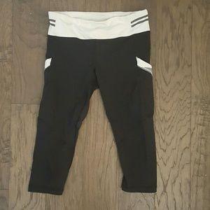 72% off lululemon athletica Pants - Black and White ...