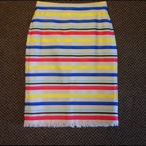 J.Crew striped cotton blend skirt size 8