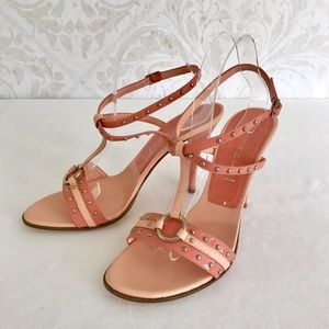 Casadei Shoes - Casadei blush & peach strappy studded sandals