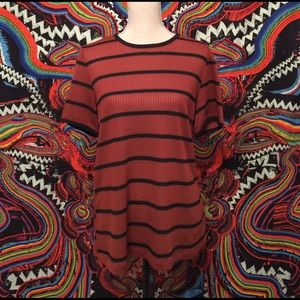 Who What Wear Tops - Who What Wear Mod Retro Stripe Knit Ringer