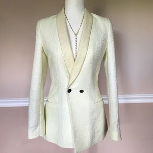 maison scotch Jackets & Blazers - Maison Scotch Long Yellow Textured Blazer