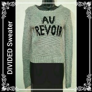 "Divided Sweaters - DIVIDED ""Au Revoir"" Sweater l Small"