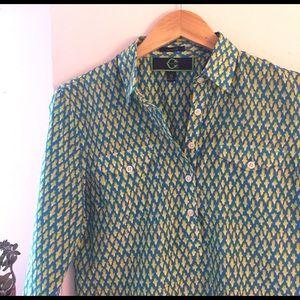 C. Wonder Tops - C. Wonder silk & cotton blend top