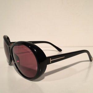 Tom Ford Accessories - Tom Ford Geraldine Black Oval Sunglasses