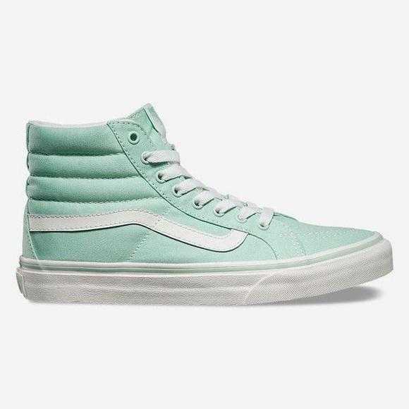 a2c513c5dc36 Mint Green Hightop Vans. M 58d029bf99086ad5be013363