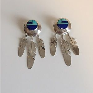Ray Tracey Jewelry - Ray Tracey Southwestern Sterling Feather Earrings