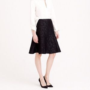 J. Crew Collection Black Textured Skirt
