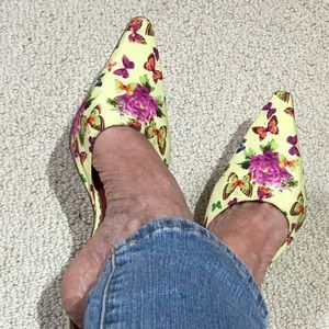 BCBGirls Shoes - BCBG flower mules