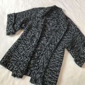kenzie Sweaters - Kenzie Wool Chunky Black/Gray Oversized Sweater
