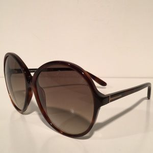 Tom Ford Accessories - Tom Ford Rhonda Brown Oval Sunglasses NIB