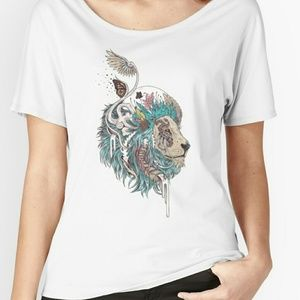 Redbubble Tops - Custom Printed Lion Tee