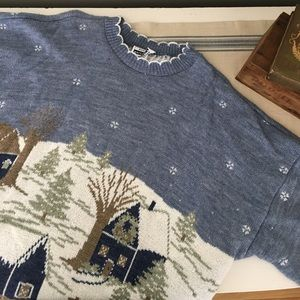 Adele Knitwear Sweaters - Vintage Winter Wonder Village Knit Sweater