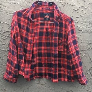 Superdry Tops - Super dry cropped flannel