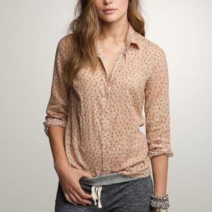 J. Crew Rosebuds Perfect Shirt