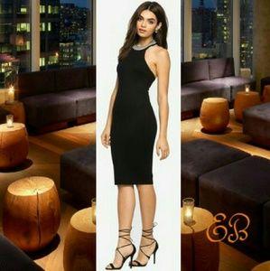 Atid Clothing Dresses & Skirts - Black Ribbed Bodycon Midi Dress