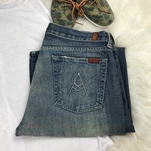 7 For All Mankind Denim - 7 for all mankind dark wash boot cut jeans