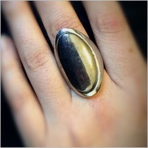 CLOSING SALE Silver Statement Ring-NWOT