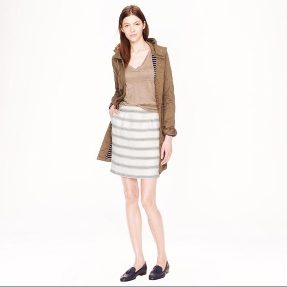 J. Crew Dresses & Skirts - J. Crew Salon Mini striped skirt