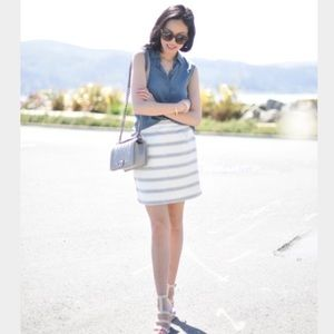 J. Crew Salon Mini striped skirt