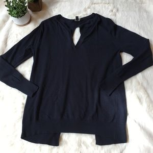 Ann Taylor Sweaters - Ann Taylor navy open back sweater