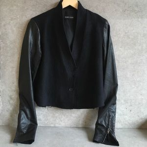 Damir Doma Jackets & Blazers - DAMIR DOMA leather + wool jacket