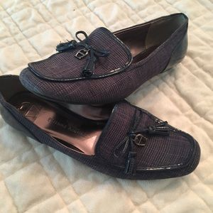 Etienne Aigner Shoes - Etienne Aigner navy plaid flats size 7.5