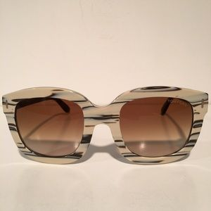 Tom Ford Accessories - Tom Ford Christophe black White Square Sunglasses