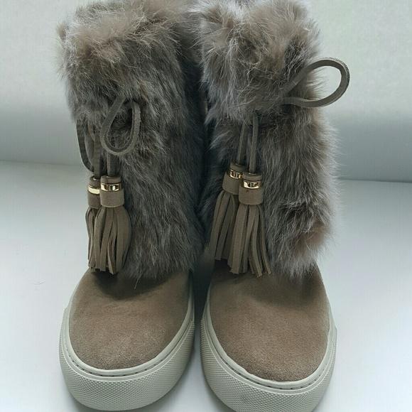 63 burch shoes burch anjelica rabbit fur