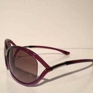 Tom Ford Accessories - Tom Ford Jennifer Purple Oval Sunglasses