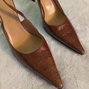 Casadei Shoes - Casadei slingback brown heels - size 7