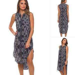 Acrobat Dresses & Skirts - Acrobat Silk Black Snake Hi Lo Tunic Dress Small